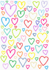 colorful hearts theme