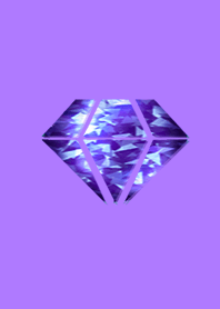 Golden luck purple diamond