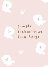Simple Bichon Frize Pink Beige