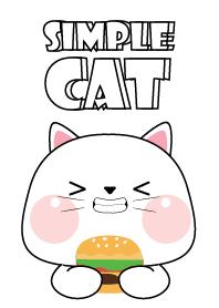Simple So Pretty White Cat ...