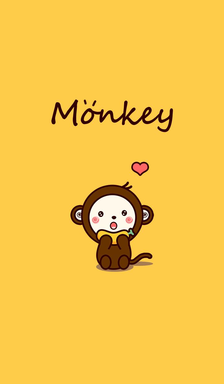 Monkey lovely bananas