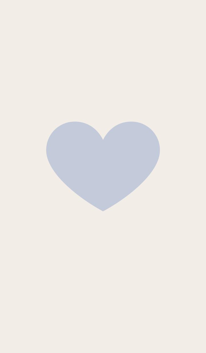 Cute adult simple heart blue beige