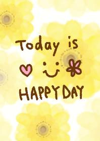 ธีมไลน์ Yellow flower - smile10-