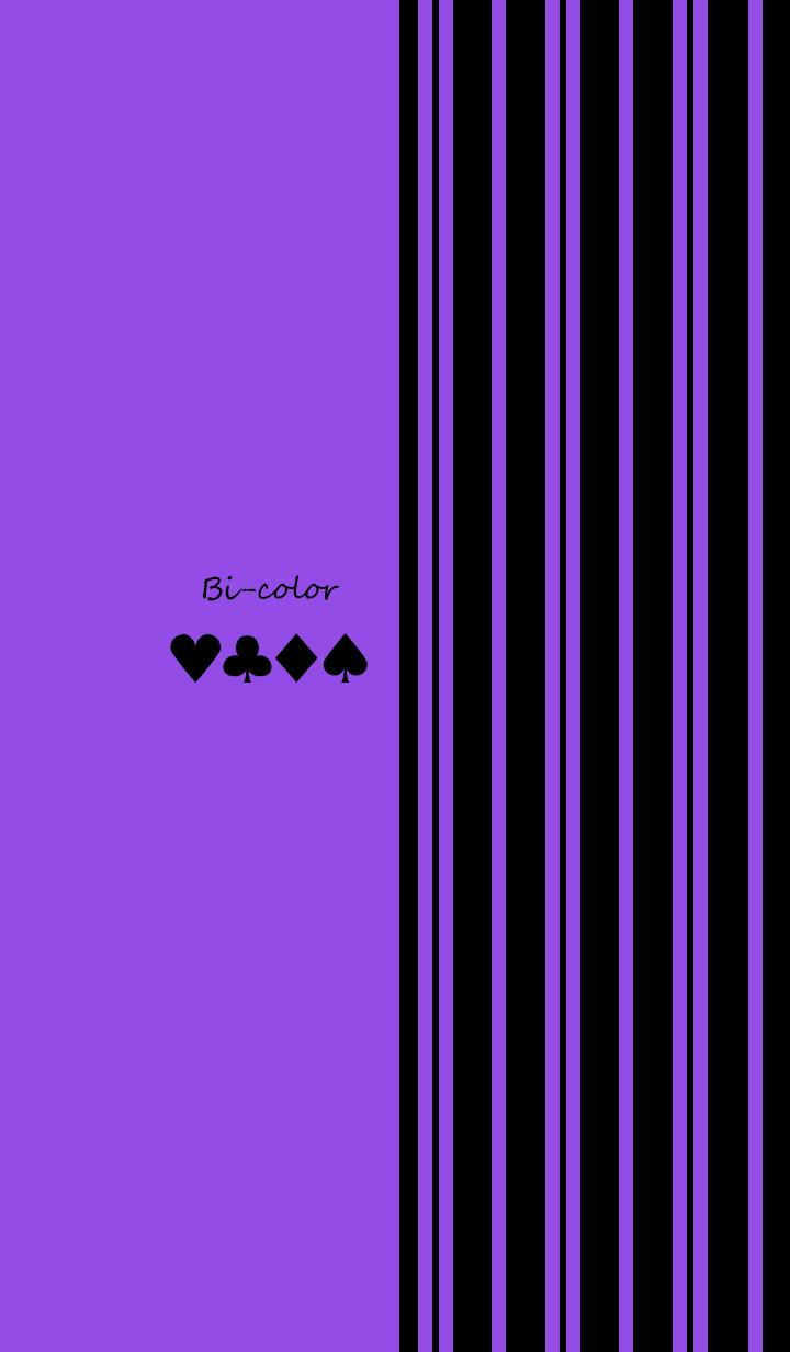 Bi-color -Purple stripe-