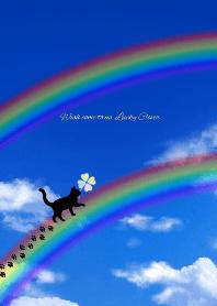 ธีมไลน์ Wish come true,Lucky Clover & Cat