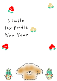 ธีมไลน์ simple toy poodle New Year