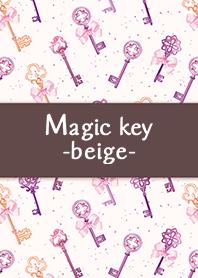 ธีมไลน์ Magic key -beige-
