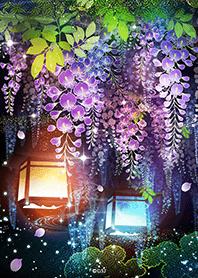 ธีมไลน์ Wisteria flowers