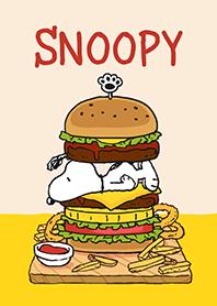 ธีมไลน์ Snoopy☆แฮมเบอร์เกอร์