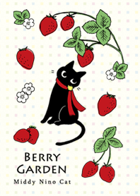 ธีมไลน์ Strawberry Middy Cat