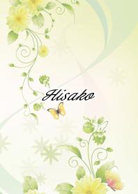 ธีมไลน์ Hisako Butterflies & flowers
