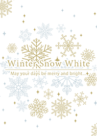 ธีมไลน์ Winter Snow White -Snow Christmas-