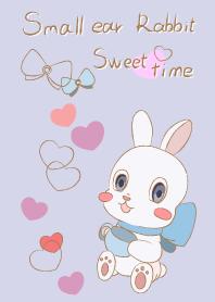ธีมไลน์ small ear rabbit-blue-for japan