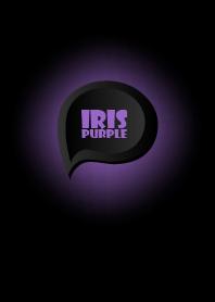ธีมไลน์ Iris Purple Button In Black