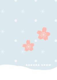 ธีมไลน์ Sakura and snow