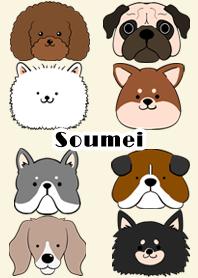 ธีมไลน์ Soumei Scandinavian dog style