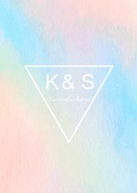 ธีมไลน์ Watercolor Initial -K&S-