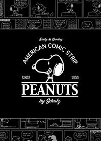 ธีมไลน์ Snoopy Comic Strips (ดำ)
