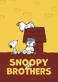 ธีมไลน์ Snoopy กับพี่น้อง