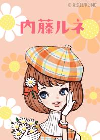 ธีมไลน์ RUNE.NAITO flowered pattern