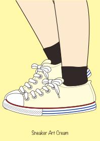 ธีมไลน์ Sneaker Art Cream
