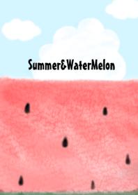 ธีมไลน์ Summer&watermelon!!#fresh