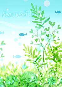 ธีมไลน์ Sea world full of green #fresh