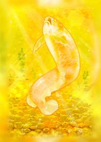 ธีมไลน์ Gold arowana collecting great fortune