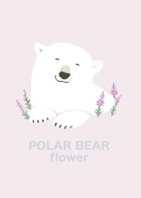 ธีมไลน์ POLAR BEAR flower