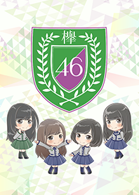 ธีมไลน์ Keyakizaka46: Cartoon Style