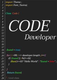 ธีมไลน์ นักพัฒนาโปรแกรม โปรแกรมเมอร์