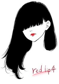 ธีมไลน์ Red lip 4(Japan)