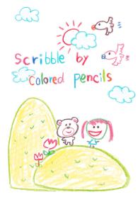 ธีมไลน์ Scribble by colored pencils 3(Theme)