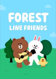 ธีมไลน์ Forest friends