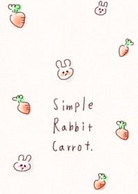 ธีมไลน์ แครอทกระต่ายง่าย ๆ