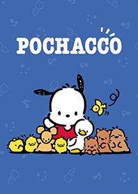 ธีมไลน์ Pochacco น้ำเงินเข้ม&ชมพูเก๋