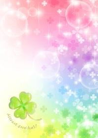 ธีมไลน์ Super luck! Rainbow & Four Leaf Clover