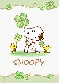 ธีมไลน์ Snoopy ใบโคลเวอร์นำโชค