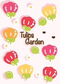 ธีมไลน์ Cute tulips garden