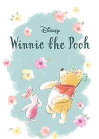 ธีมไลน์ หมีพู ดอกไม้ในสายลม