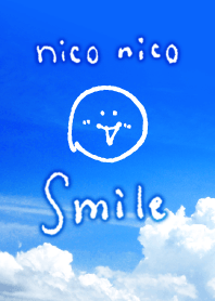 ธีมไลน์ Blue sky SO SMILE