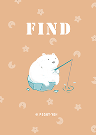 ธีมไลน์ Little polar bear-FIND (pink)