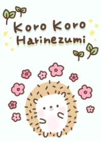ธีมไลน์ Korori Hedgehog(Spring green)