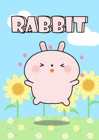 ธีมไลน์ กระต่ายชมพู แฮปปี้ๆ