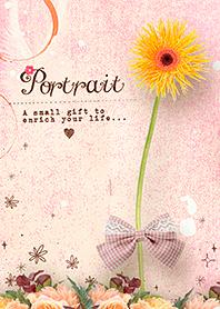 ธีมไลน์ PORTRAIT / ดอกเบจอ่อน