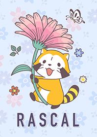 ธีมไลน์ Rascal☆ดอกไม้แห่งฤดูใบไม้ผลิ