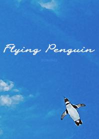 ธีมไลน์ Flying Penguin - Watercolor
