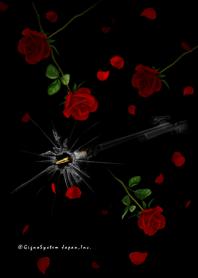 ธีมไลน์ Rose and bullet