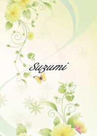 ธีมไลน์ Suzumi Butterflies & flowers