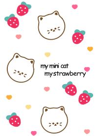 ธีมไลน์ Cute cat & Strawberry 15